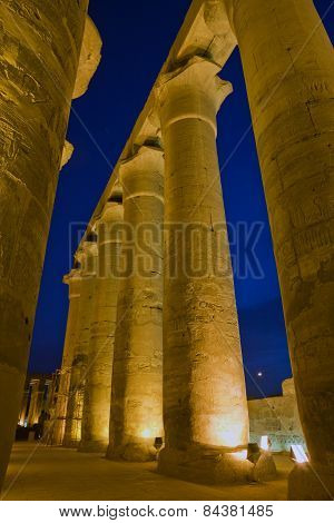 Pillars in the Luxour Temple
