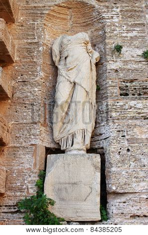 Roman Statue in Ibiza Town
