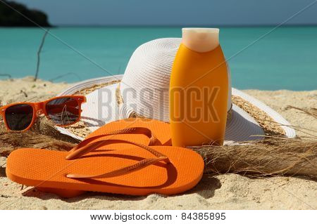 Sun Protection On A Beach