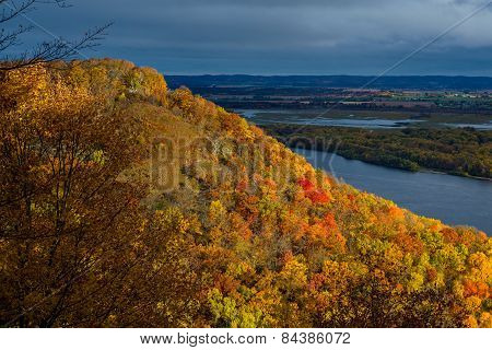 Mississippi River Bluff, Autumn