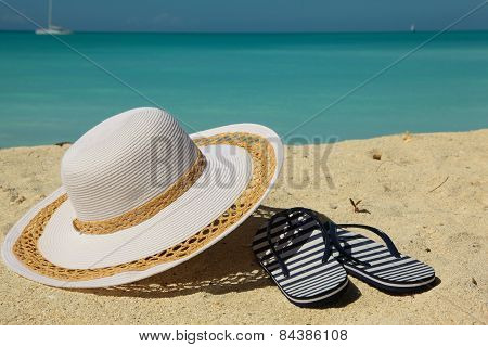 White Beach Hat