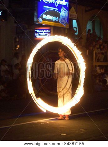 Juggler Participates The Festival Pera Hera In Kandy