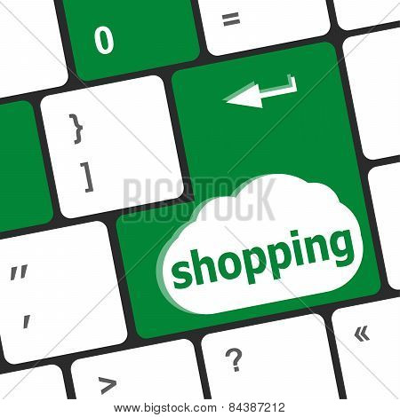 Special Keyboard Key With Shopping Key