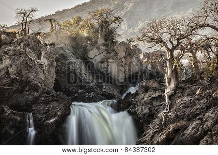 Epupa water fall in Kaokoland, Namibia
