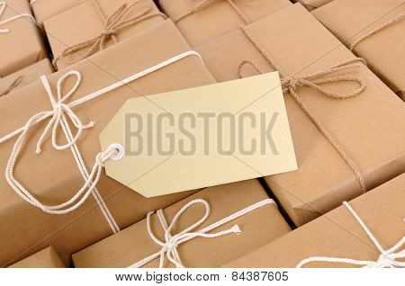 Group Of Parcels With Label
