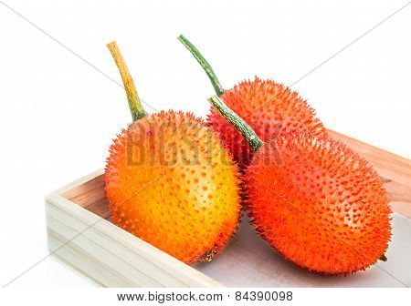 Gac Fruit Isolated On White Background