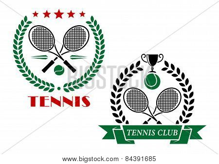 Tennis game icons and emblems