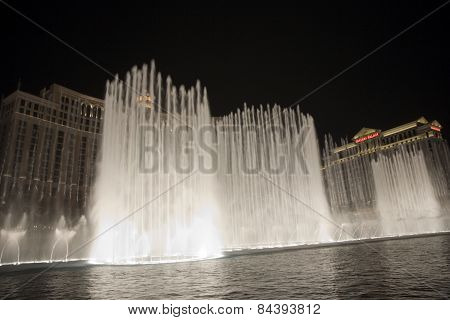 Las Vegas Bellagio Hotel Casino, Featured With Its World Famous Fountain Show
