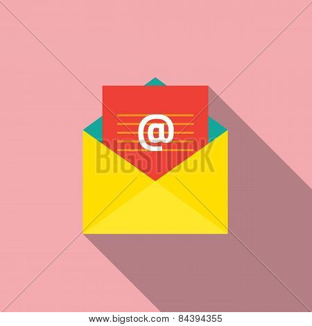 Flat Design E-mail Icon.