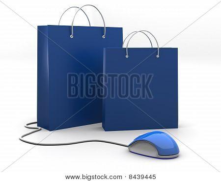 Blue Sopping Bag