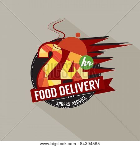 24 Hours Food Delivery Service.