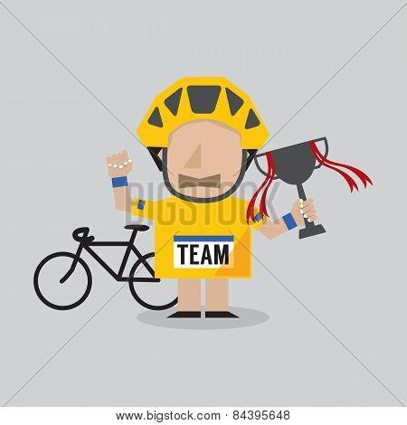 Champion Cyclist Athlete.