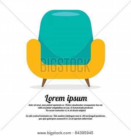 Vintage Colorful Sofa.