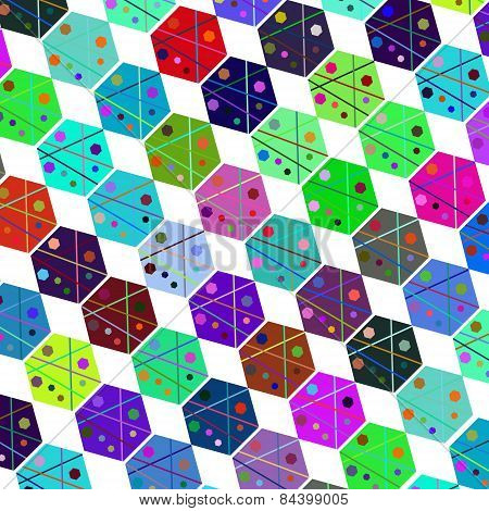 Abstract Colorful Geometric Simple Background For Design, Vector