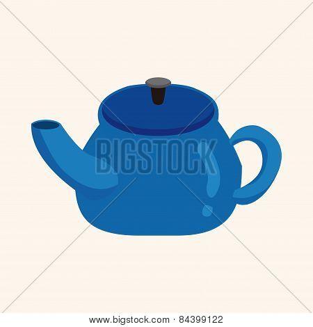 Kitchenware Tea Pot Theme Elements Vector,eps