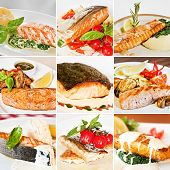 Постер, плакат: Fish Dishes Collage