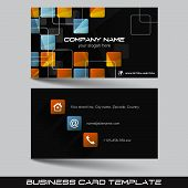 foto of visitation  - Business card template - JPG