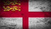 picture of sark  - Flag of Sark with old texture - JPG