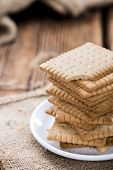 stock photo of biscuits  - Stacked Butter Biscuits  - JPG