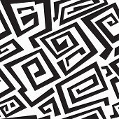pic of swastika  - ancient monochrome seamless texture  - JPG