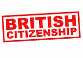 image of citizenship  - BRITISH CITIZENSHIP red Rubber Stamp over a white background - JPG