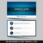 stock photo of visitation  - Business card template or visiting card set - JPG