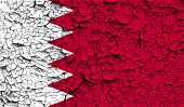 foto of bahrain  - Flag of Bahrain with old texture - JPG