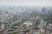 picture of smog  - Smog over Bangkok in the city center obscures the sky - JPG