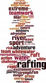 foto of raft  - Rafting word cloud concept - JPG