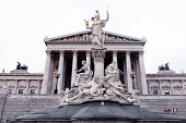 stock photo of laws-of-attraction  - Austrian Parliament and Athena monument - JPG