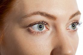 picture of eye-sockets  - Conceptual Close up Gray Eye of a Woman Looking Up - JPG