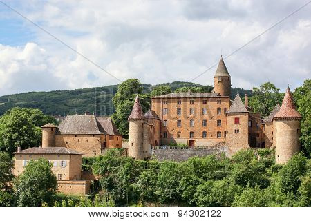 Castle of Jarnioux in Beaujolais, France