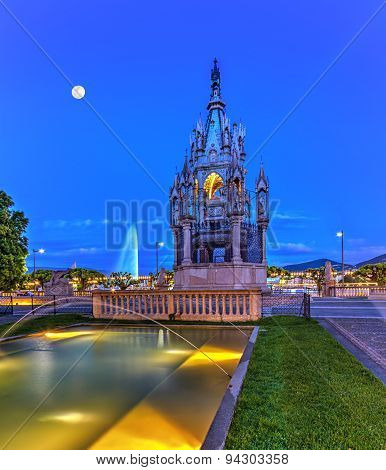 Brunswick monument and fountain, Geneva, Switzerland, HDR