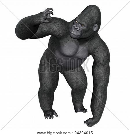 Angry gorilla - 3D render