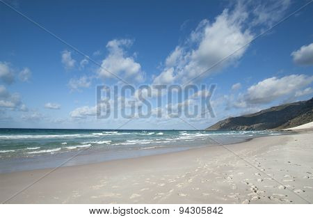 Gulf of Aden from the north coast, beach - Socotra Island, Yemen