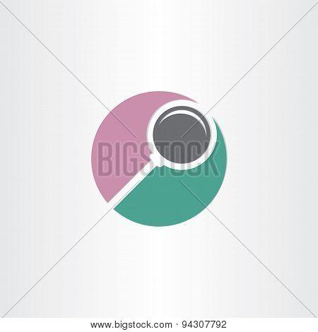 Stylized Search Magnifier Symbol
