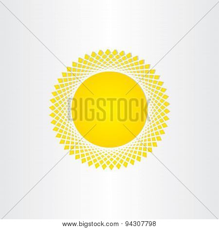 Sun Icon Solar Energy Yellow Symbol