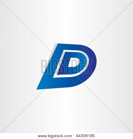 Blue Letter D Icon Design