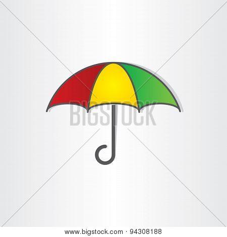 Umbrella Vector Symbol Design