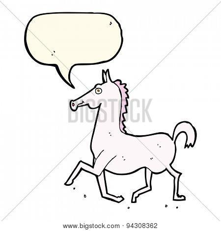 cartoon horse with speech bubble