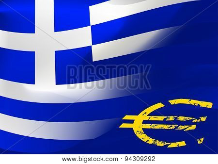Greece Flag With Eu Symbol