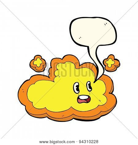 cartoon cloud with speech bubble