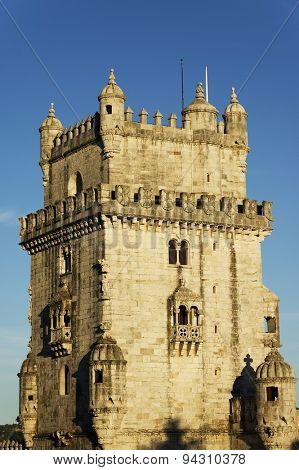 Belem Tower in sunset light, Lisbon, Portugal
