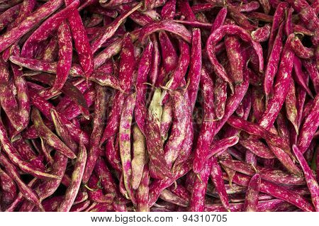 Horizontal photo of red beans at farm market
