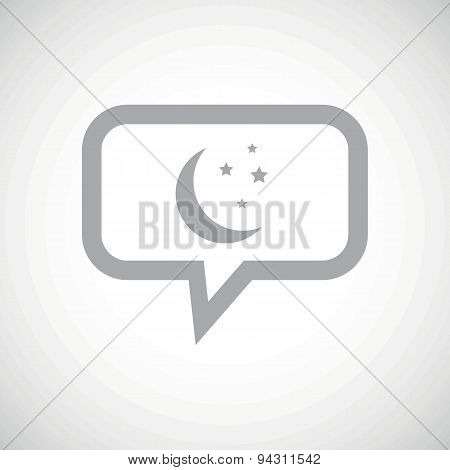 Night grey message icon