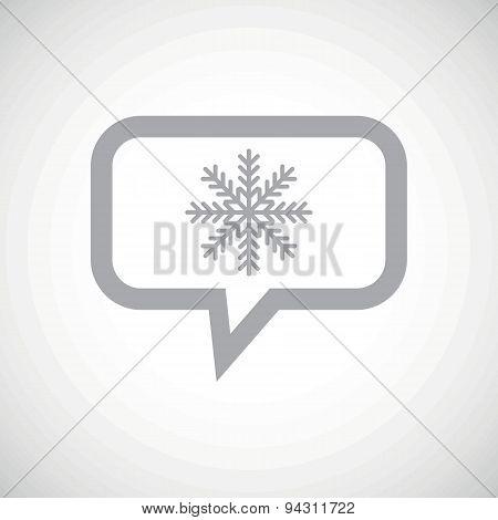 Winter grey message icon