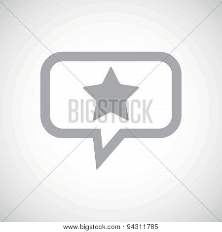 Star grey message icon