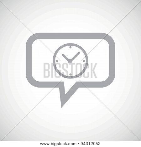Clock grey message icon