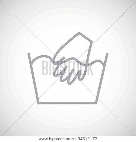 Grey hand wash icon