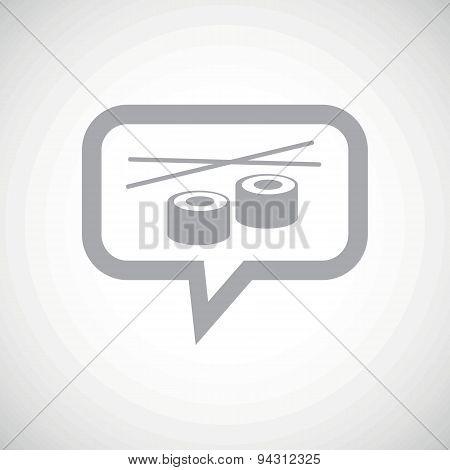 Sushi grey message icon
